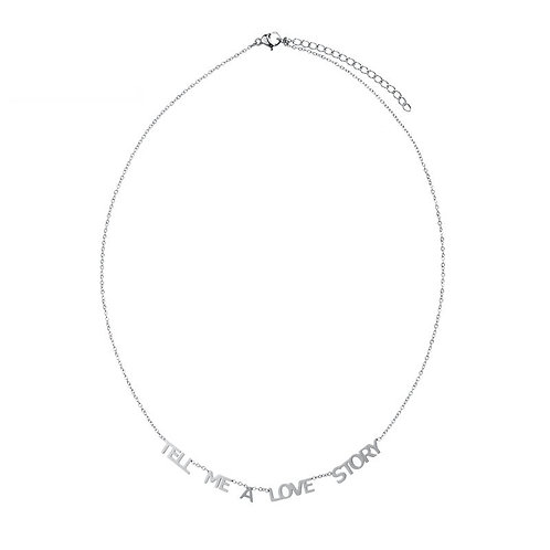 TELL ME A LOVE STORY - necklace in RVS gold/silver