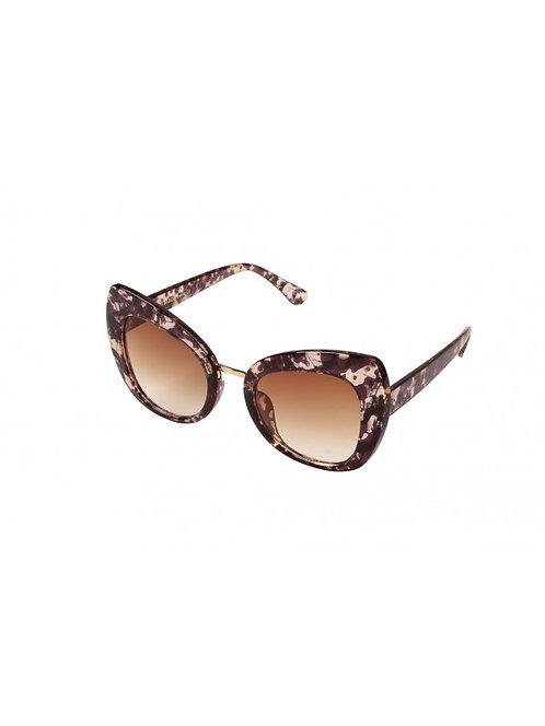 Lola - bruine zonnebril in leopard print