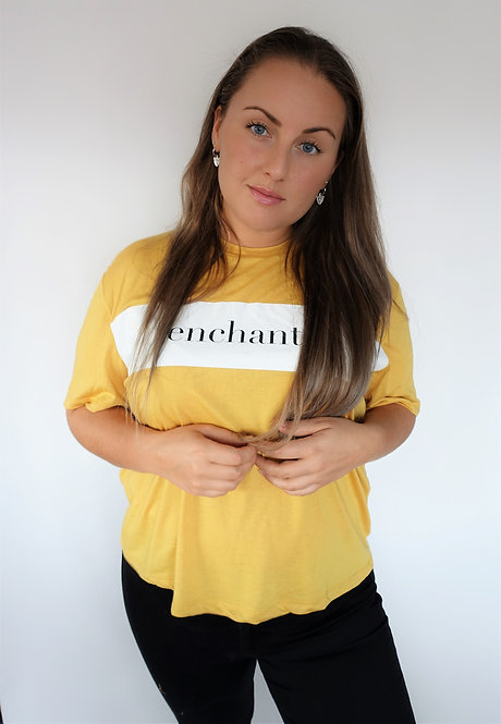 ENCHANTÉ - geel t-shirt