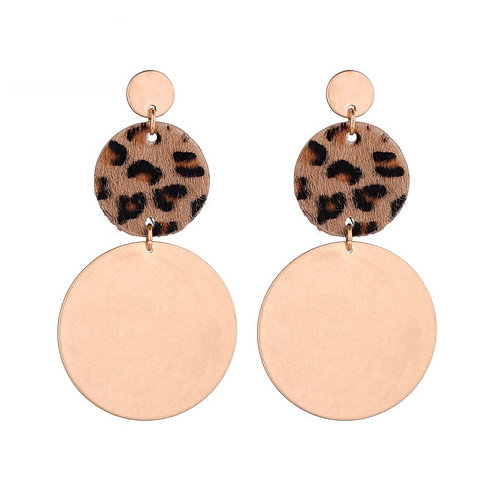 Leopard party - earrings in gold