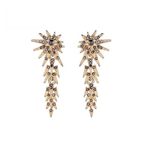 Shooting star - earrings in gold