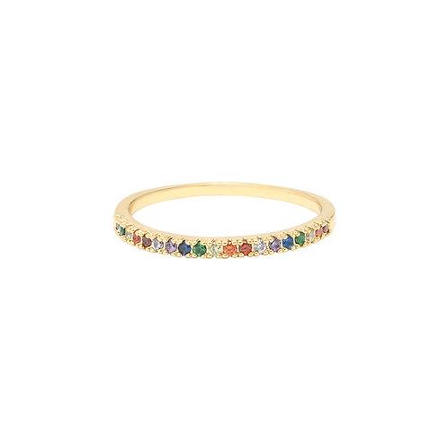 Magic row - ring in zilver/goud