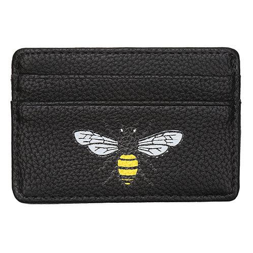 Bee card holder in black