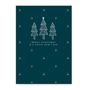 MERRY CHRISTMAS & A HAPPY NEW YEAR - (sieraden) kaartje Kerstmis