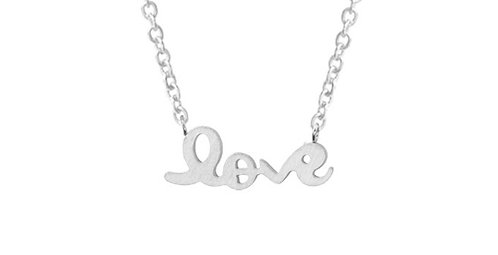 Love necklace in silver/gold