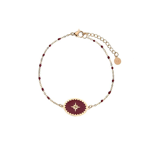 Wicked things - bracelet in RVS gold/red
