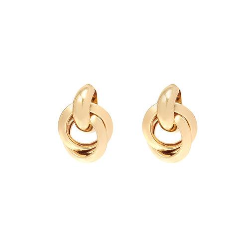 Magic hoops - oorbellen in zilver/goud