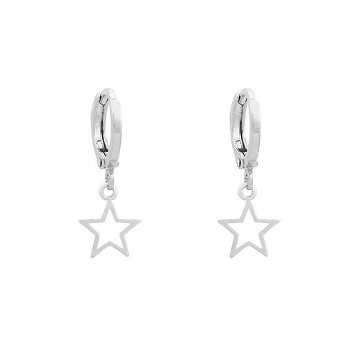 Little star earrings in gold