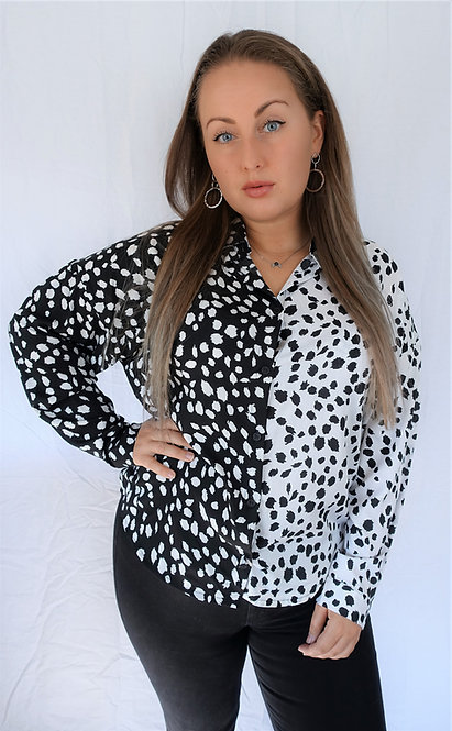 BETTER THAN DOTS - oversized contrast blouse