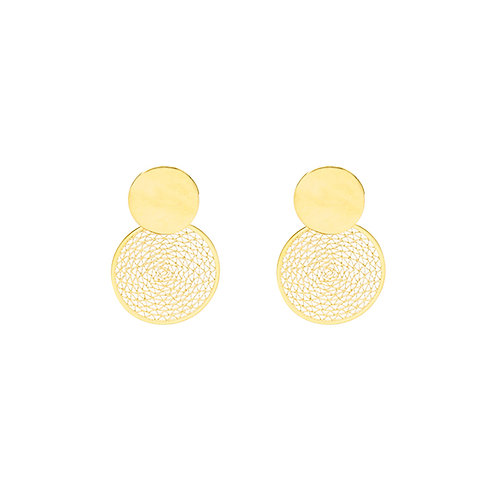 Circle wire - earrings in gold/silver