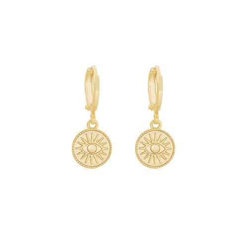 Suneye - oorbellen in goud/zilver