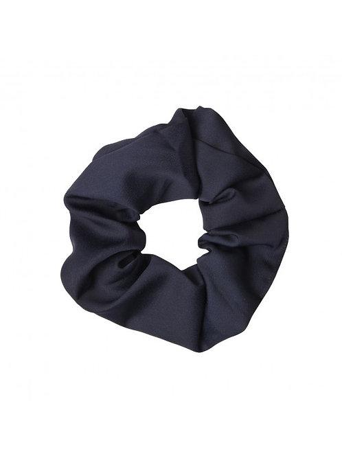 Satin scrunchie in donkerblauw