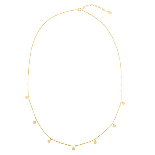 Little dots & coins - necklace in silver/gold