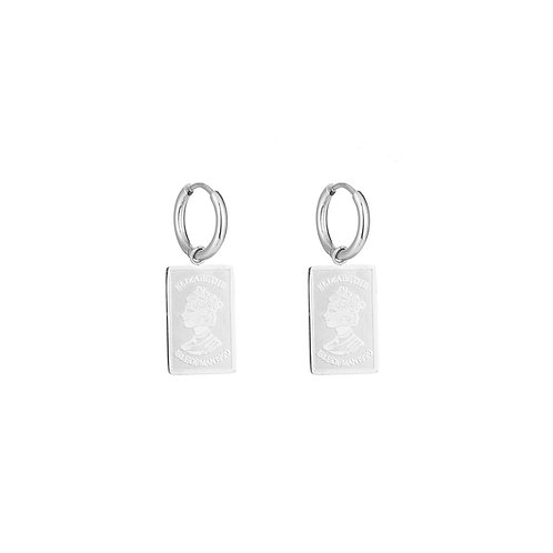 Elizabeth - oorbellen in RVS zilver/goud