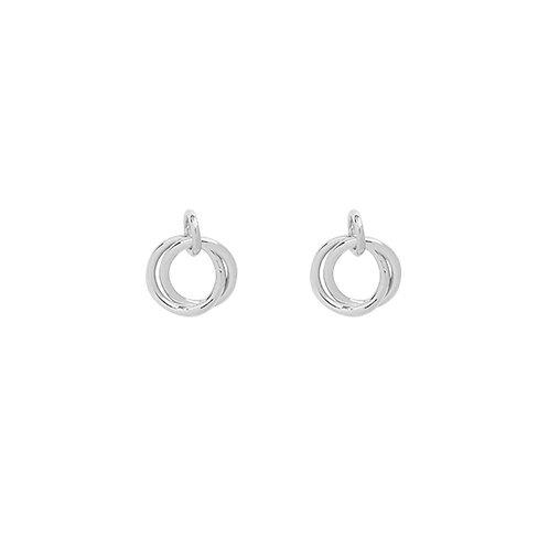 Mini open circles - oorbellen in zilver/goud