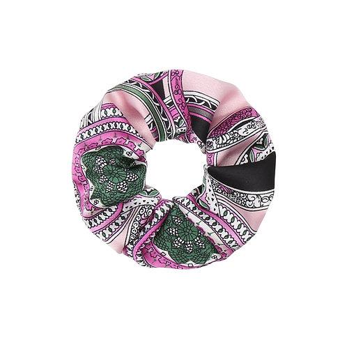 Satin italic scrunchie (roze)