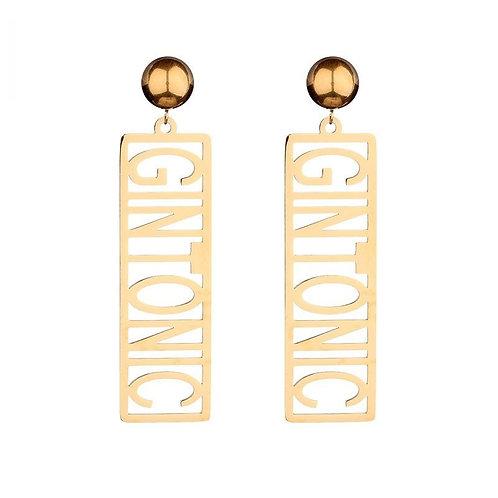 GIN TONIC - earrings in RVS gold