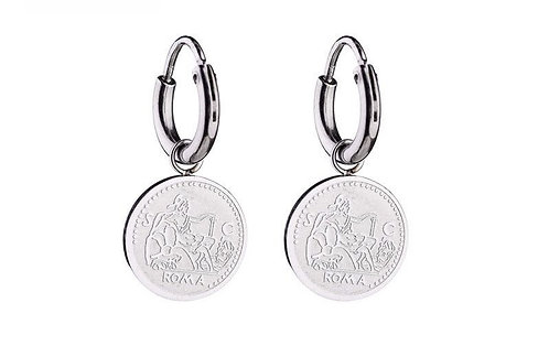 Italian stories - earrings in RVS silver/gold