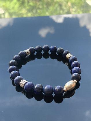 青金石手鏈 Lapis Lazuli Bracelet (0.8mm)