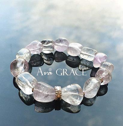 淡紫色調水晶手鏈