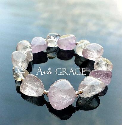 可愛淺紫色紫水晶手鏈