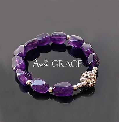 嬌艷亮麗紫水晶手鏈