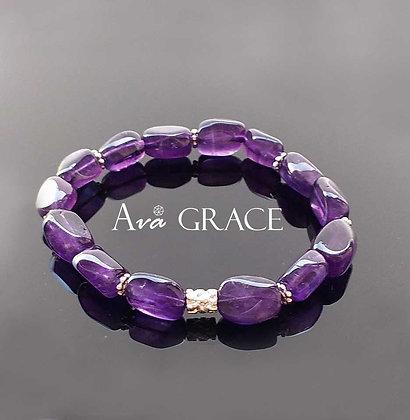 簡約時尚紫水晶手鏈
