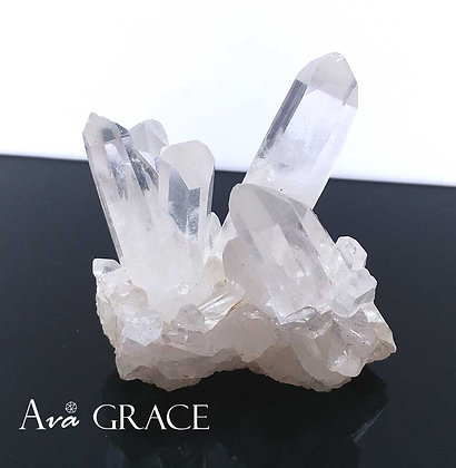 別緻淨化白水晶簇