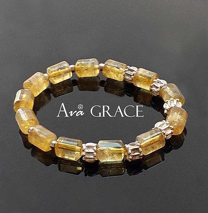 時尚型格黃水晶手鏈