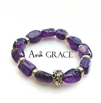 Amethyst 晶瑩巴西紫水晶手鏈