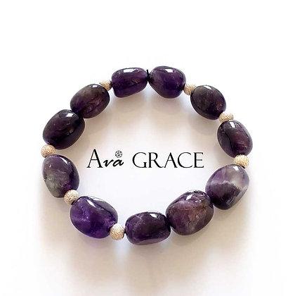 貴氣紫水晶手鏈