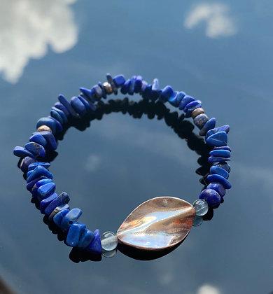 精緻青金石碎石手鏈 Lapis Lazuli Bracelet