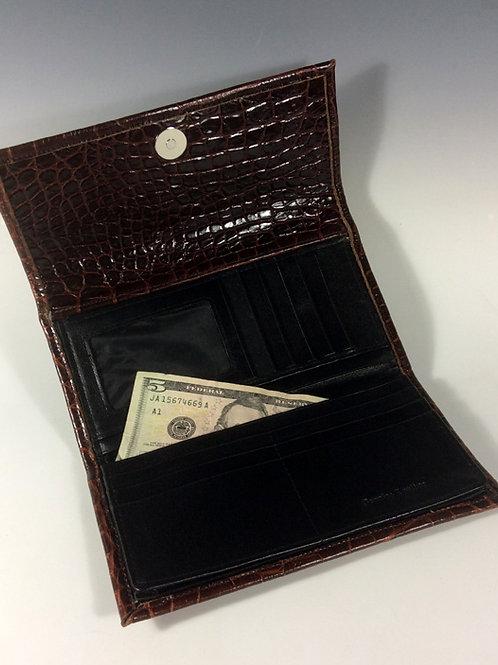 Women's Congnac Croc Wallet