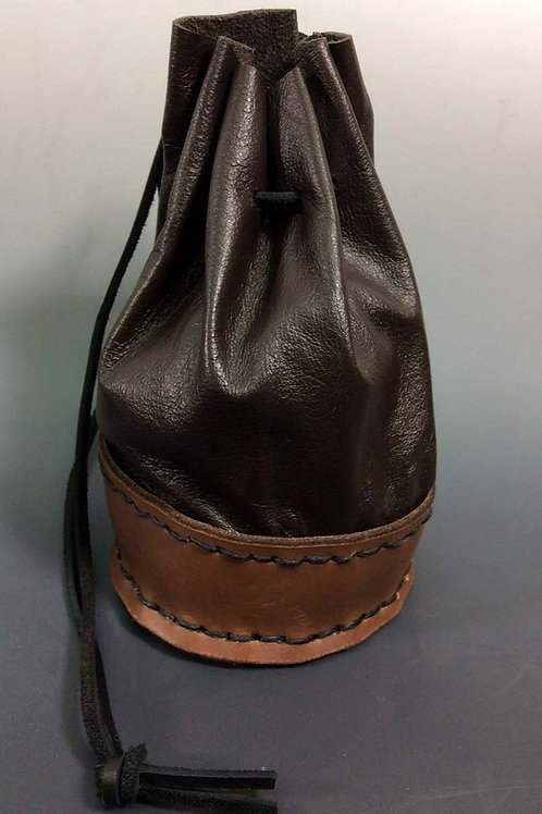 Large Dice Bag- Upholstery Leather