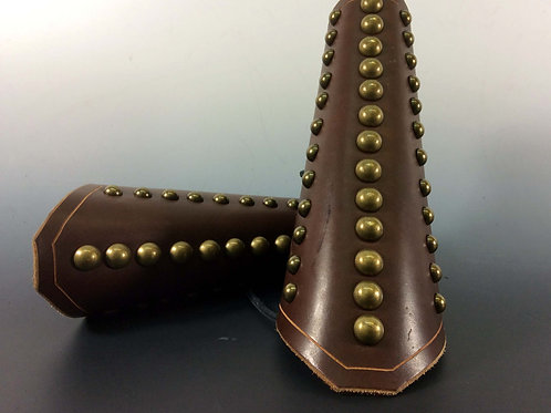 3 Row Studded Arm Guards