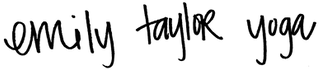 emily taylor yoga script logo