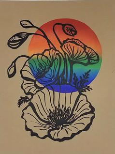 Rainbow Poppies