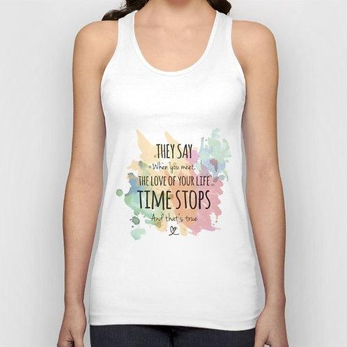 """Camiseta de tirantes """"Time stops"""""""