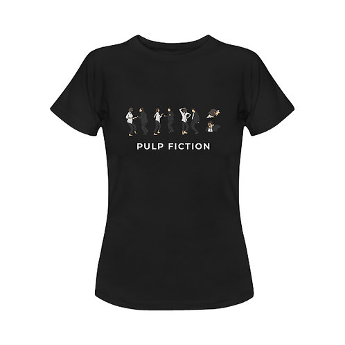 Camiseta clásica negra Pulp Fiction