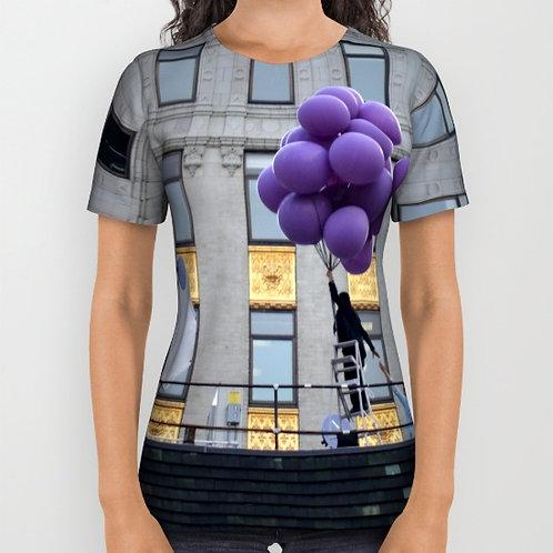 "Camiseta de manga corta ""Purple balloons"""