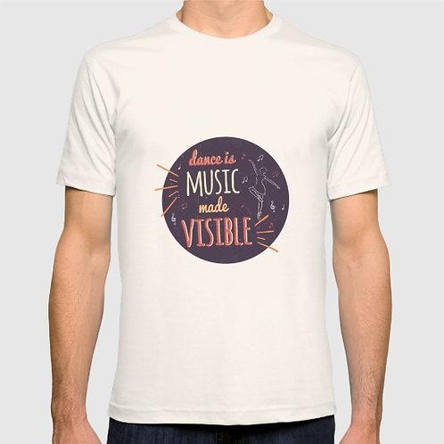 "Camiseta de manga corta ""Dance is music"""
