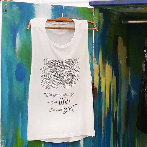 """Camiseta sin mangas """"Change"""""""