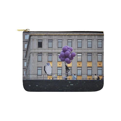 Cartera de tela Purple Balloons