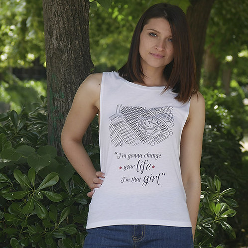 """Camiseta de tirantes """"Change"""""""