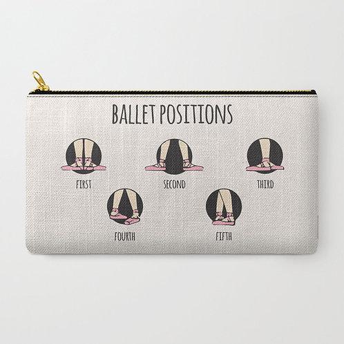 """Cartera """"Ballet positions"""" mediana"""