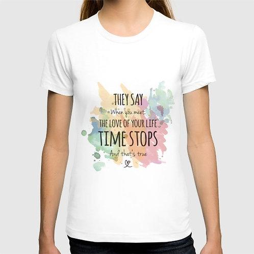 "Camiseta de manga corta ""Time stops"""