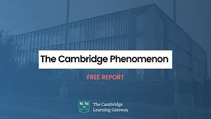 The Cambridge Phenomenon - European Union report