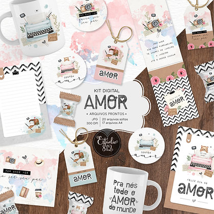 Kit Digital Amor - Arquivos prontos
