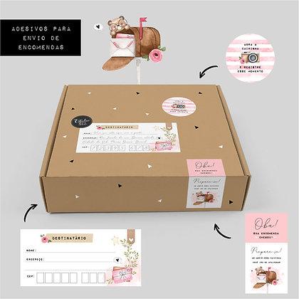 Adesivos para correios