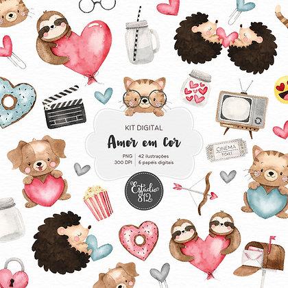 Kit Digital Amor em Cor